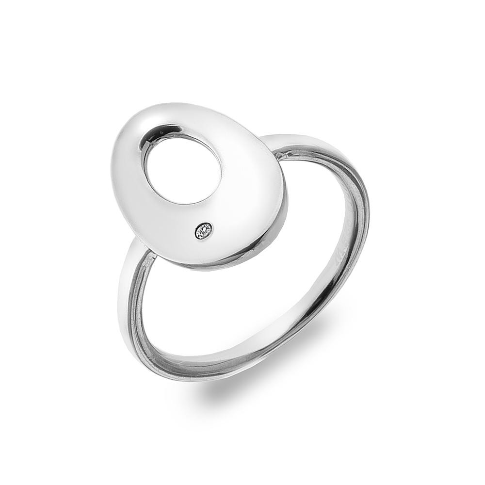 Støíbrný prsten Hot Diamonds Emerge Oval