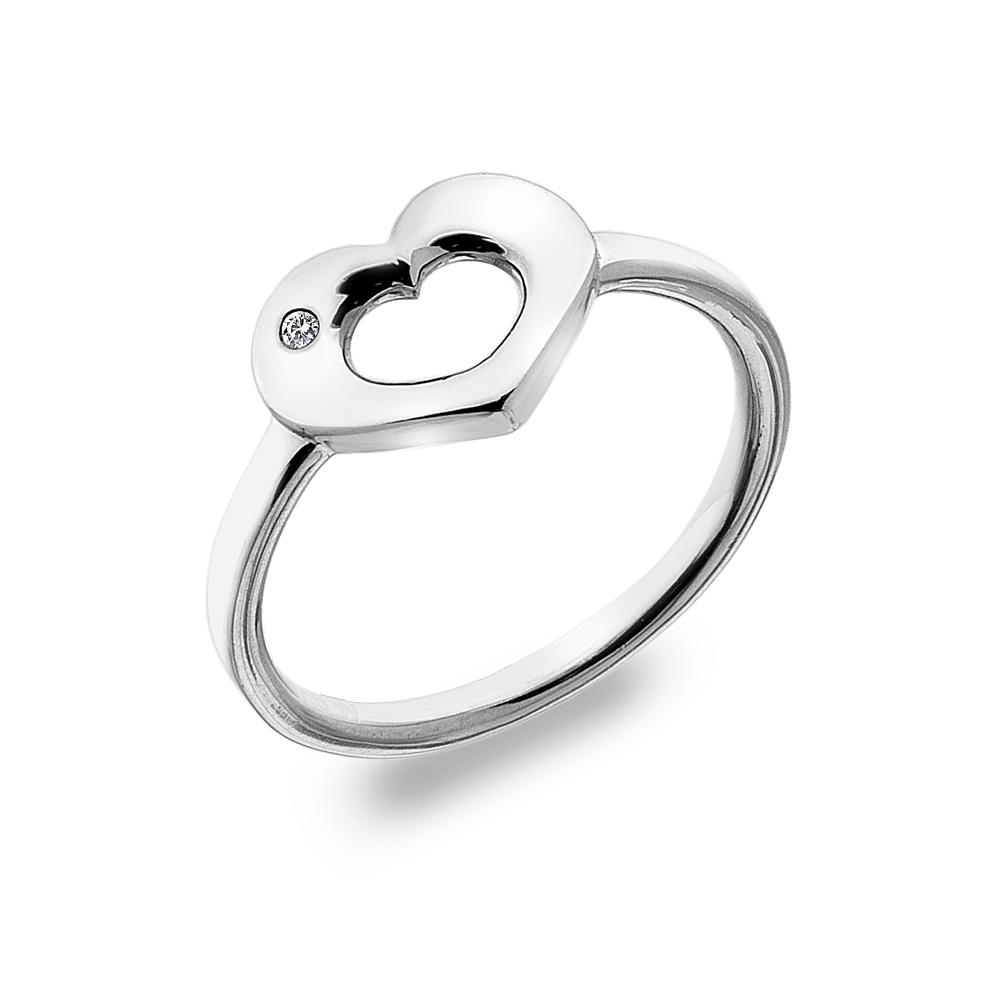 Støíbrný prsten Hot Diamonds Emerge Heart