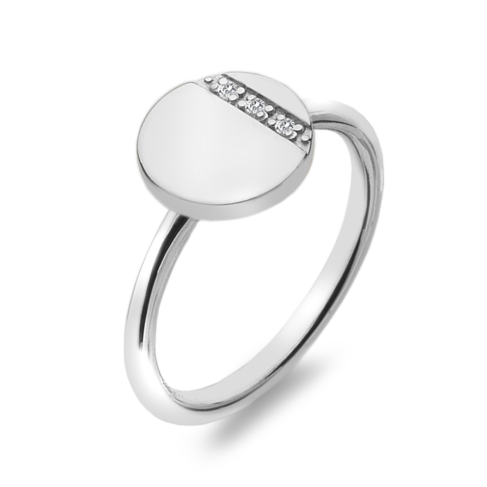 Støíbrný prsten Hot Diamonds Silhouette Circle