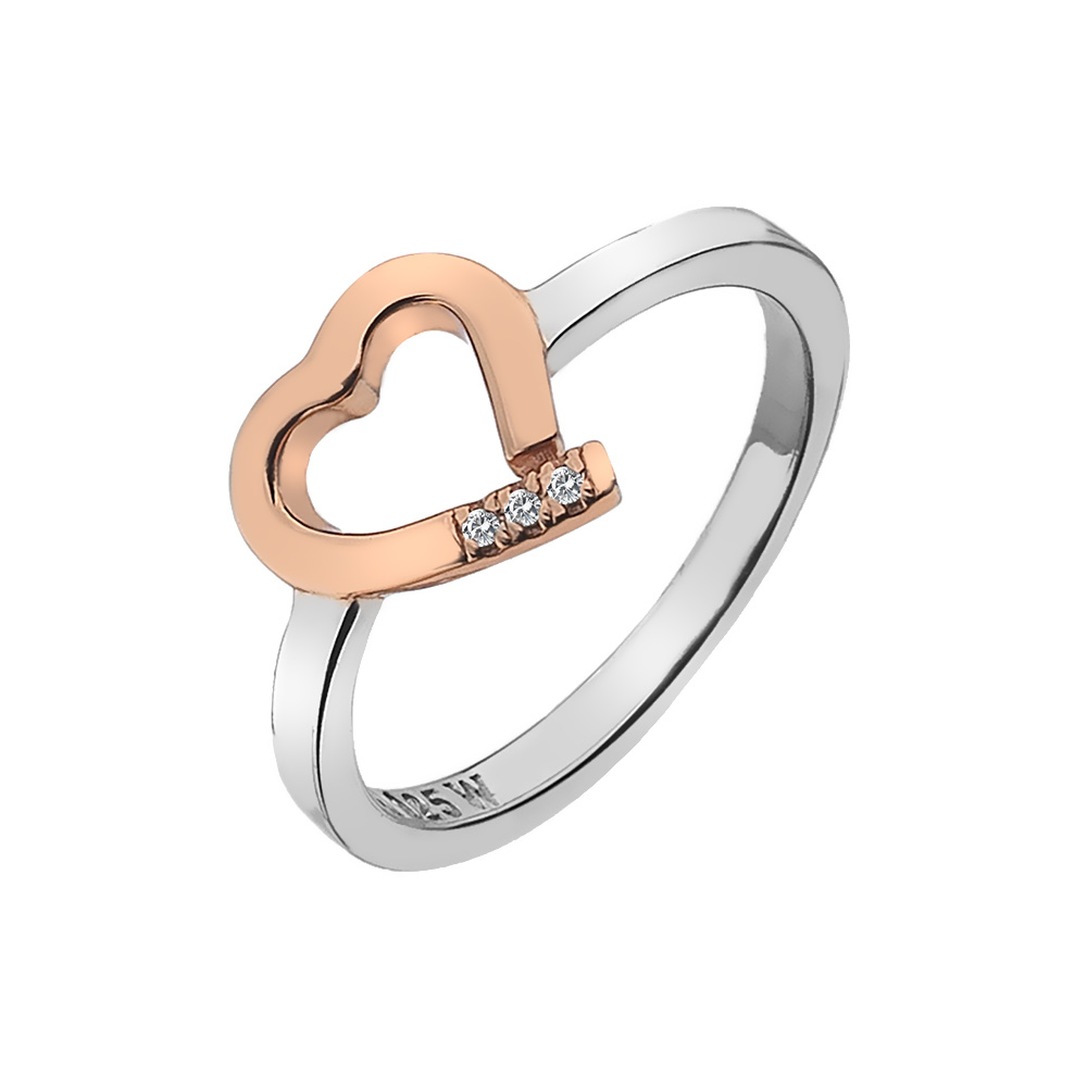 Støíbrný prsten Hot Diamonds Love DR195