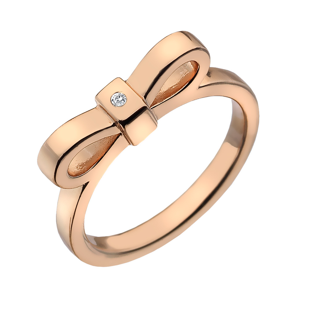 Støíbrný prsten Hot Diamonds Ribbon DR197/K