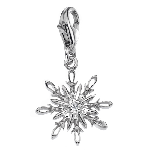 Støíbrný pøívìsek Hot Diamonds Winter Wonderland Snowflake