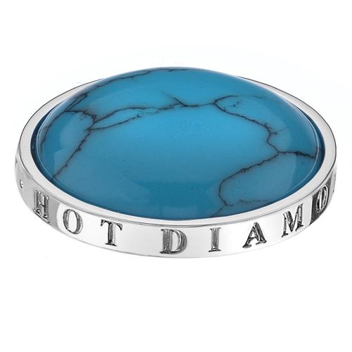 Støíbrný pøívìsek Hot Diamonds Emozioni Turquoise Coin