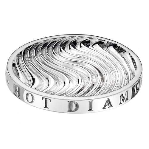 Pøívìsek Hot Diamonds Emozioni Silver Wave Coin