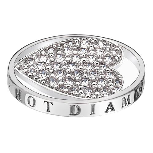 Pøívìsek Hot Diamonds Emozioni Ice Sparkle Heart Mirage Coin