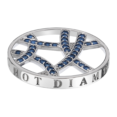 Pøívìsek Hot Diamonds Emozioni Azure Sparkle Arc Coin