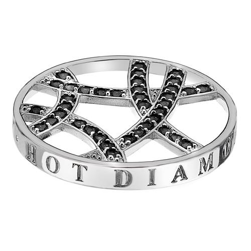 Přívěsek Hot Diamonds Emozioni Midnight Sparkle Arc Coin
