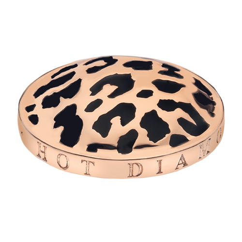 Pøívìsek Hot Diamonds Emozioni Leopard Rose Gold Coin