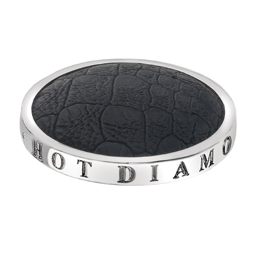 Pøívìsek Hot Diamonds Emozioni Faux Crocodile Black Coin