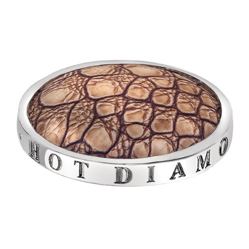 Pøívìsek Hot Diamonds Emozioni Faux Crocodile Light Brown Coin