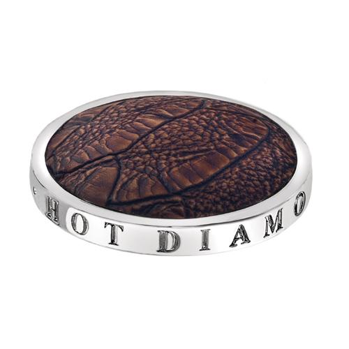 Pøívìsek Hot Diamonds Emozioni Faux Crocodile Dark Brown Coin