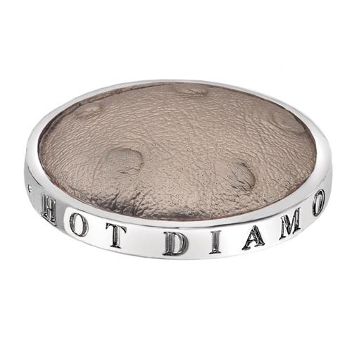 Přívěsek Hot Diamonds Emozioni Faux Ostrich Beige Coin