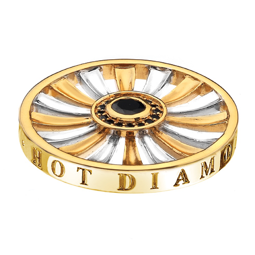 Pøívìsek Hot Diamonds Emozioni Art Deco Sunrise Yellow Coin