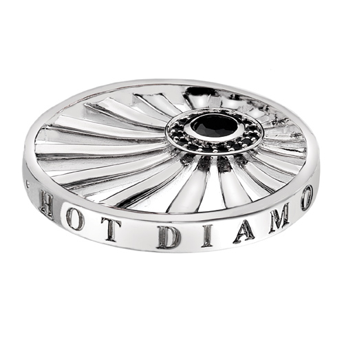 Pøívìsek Hot Diamonds Emozioni Art Deco Dawn Silver Coin