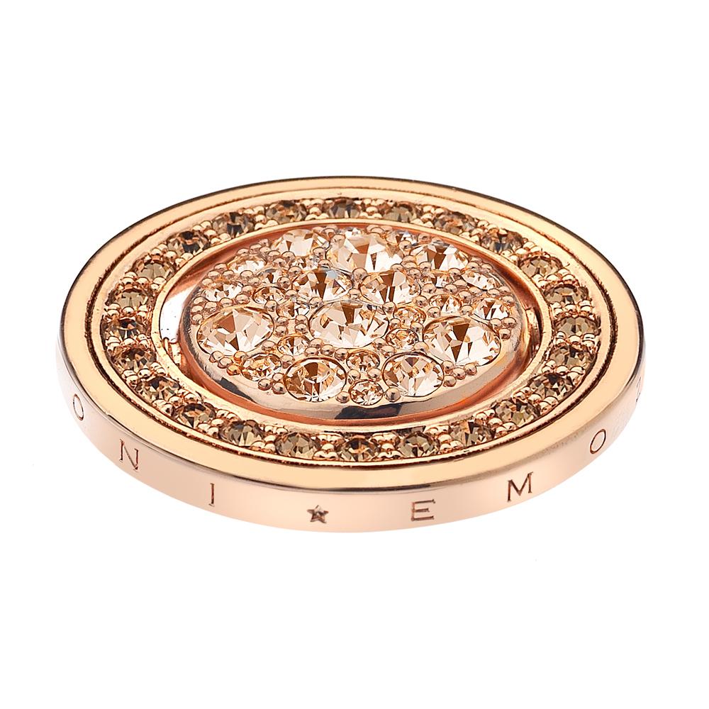 Pøívìsek Hot Diamonds Emozioni Fiamme e Ghiaccio Rose Gold Coin