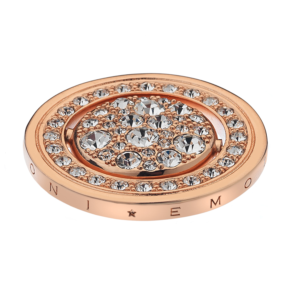 Pøívìsek Hot Diamonds Emozioni Acqua e Aria Rose Gold Coin
