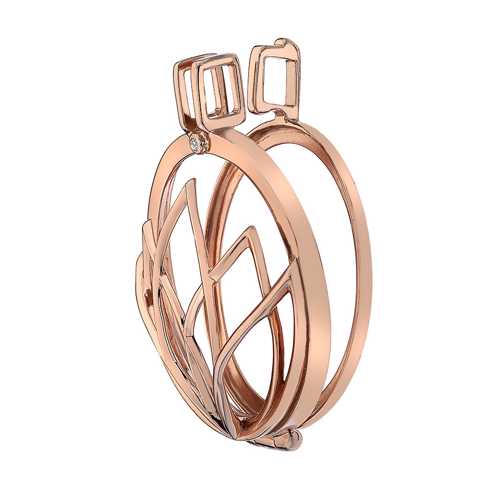 Støíbrný pøívìsek Hot Diamonds Emozioni Rinscita Rose Gold Plated Coin Keeper EK038