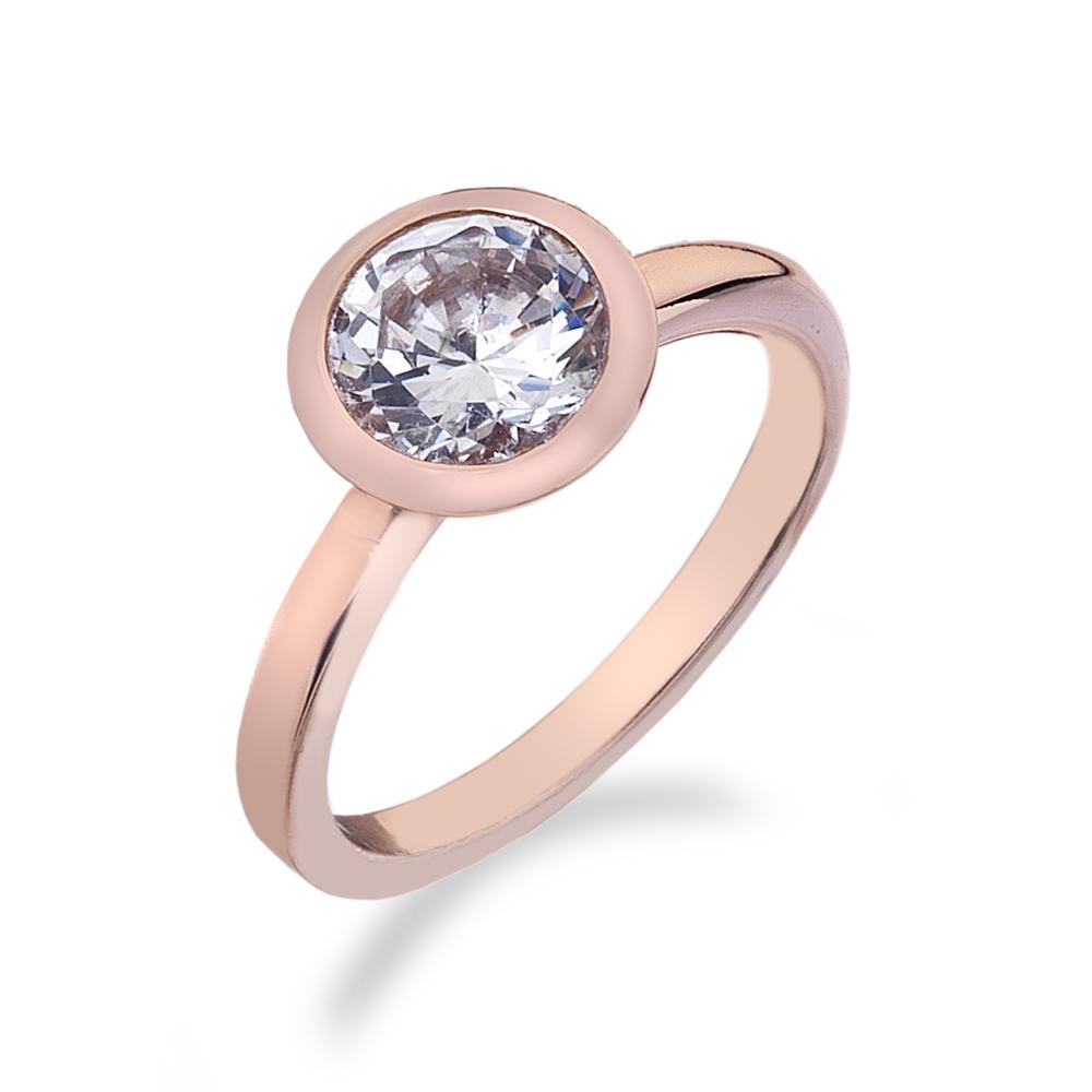 Støíbrný prsten Hot Diamonds Emozioni Riflessi Rose Gold