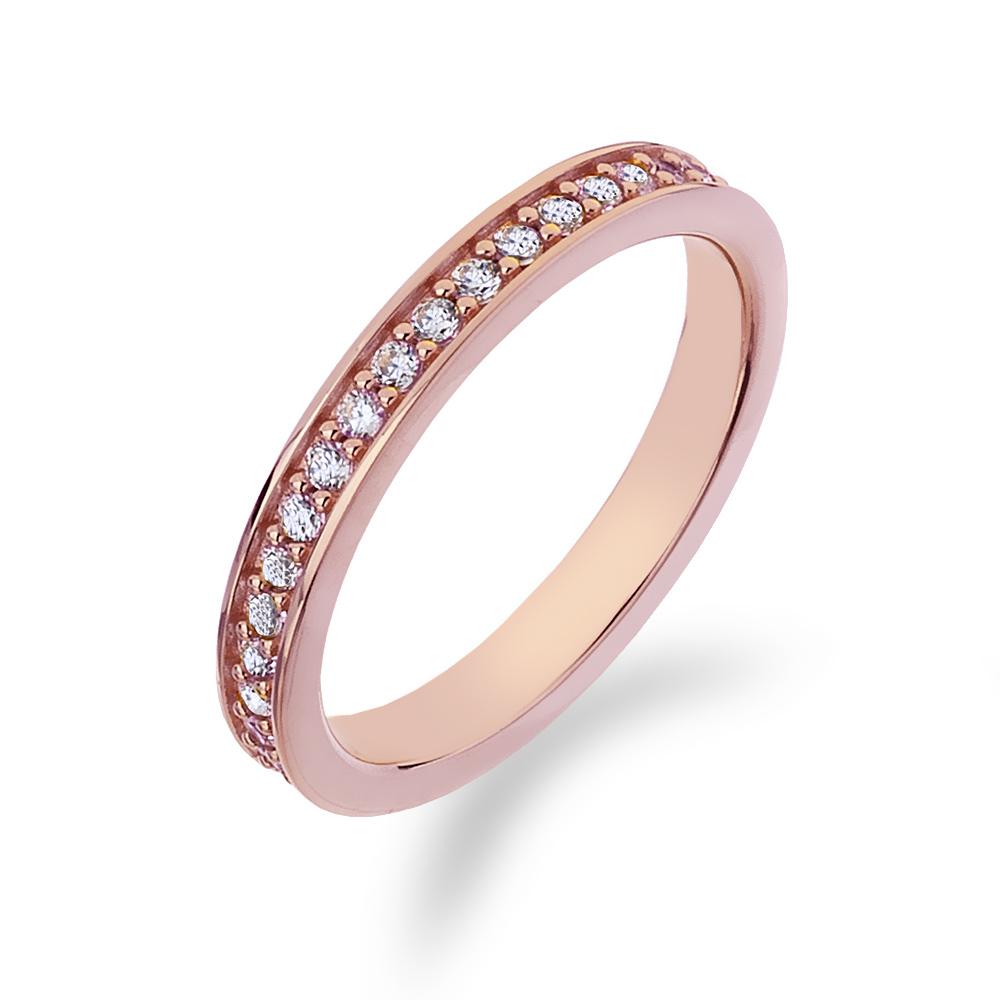 Stříbrný prsten Hot Diamonds Emozioni Infinito Rose Gold