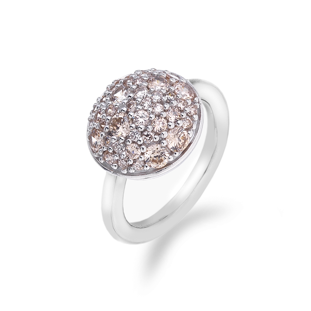 Støíbrný prsten Hot Diamonds Emozioni Bouquet Champagne