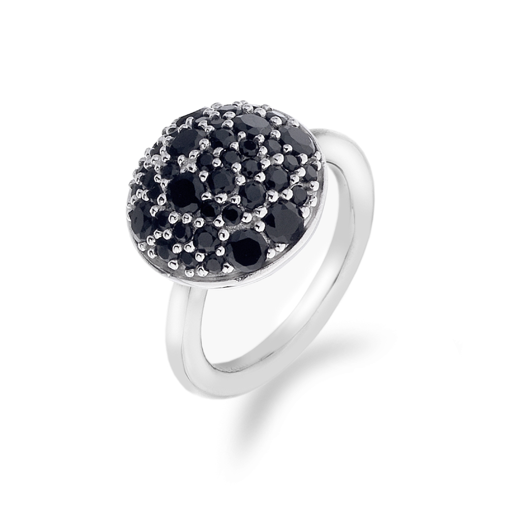 Støíbrný prsten Hot Diamonds Emozioni Bouquet Black