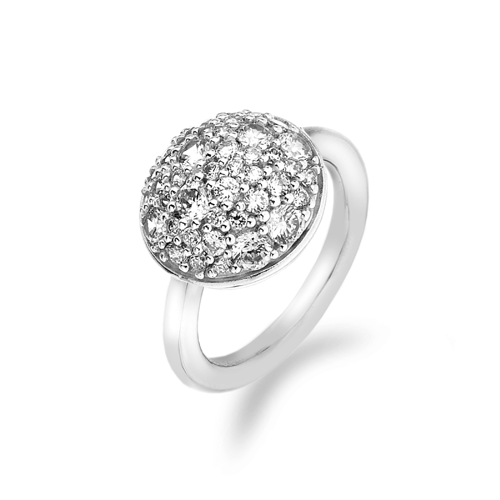 Stříbrný prsten Hot Diamonds Emozioni Bouquet