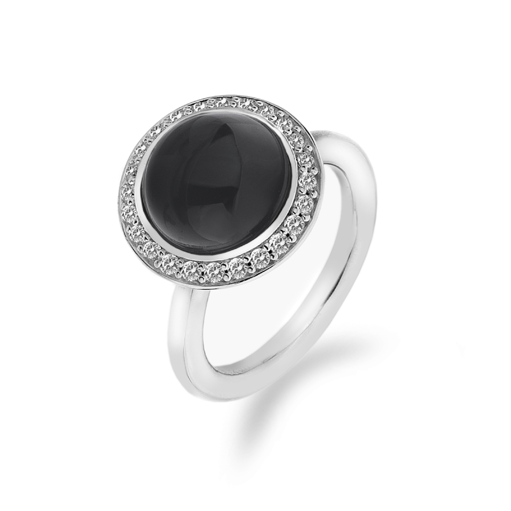 Støíbrný prsten Hot Diamonds Emozioni Laghetto Black