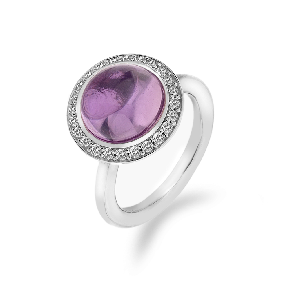 Støíbrný prsten Hot Diamonds Emozioni Laghetto Pink