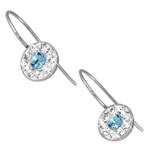 Náušnice s krystaly Swarovski ESSW08-AQUA
