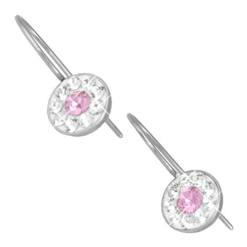 Náušnice s krystaly Swarovski ESSW08-ROSE
