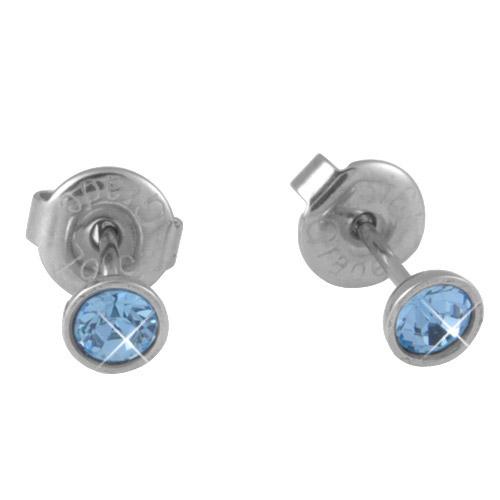 Náušnice s krystaly Swarovski ESSW10-AQUA