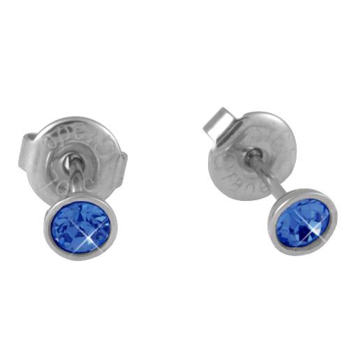 Náušnice s krystaly Swarovski ESSW10-SAPPHIRE