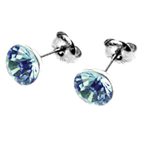 Náušnice s krystaly Swarovski ESSW11-AQUA