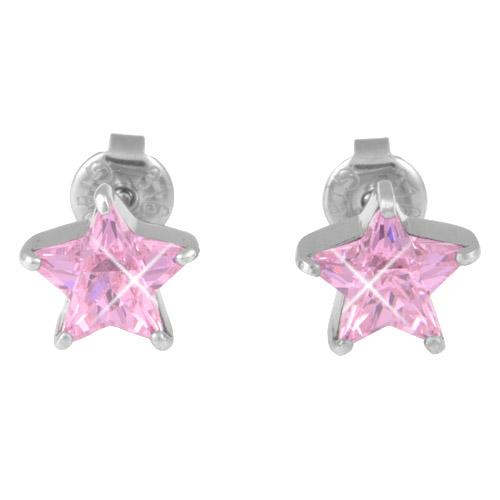 Náušnice s krystaly Swarovski ESSW16-ROSE