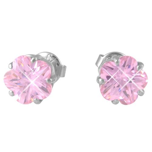 Náušnice s krystaly Swarovski ESSW18-ROSE
