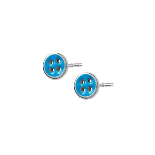 Náušnice z chirurgické oceli Tribal ESSW29-BLUE