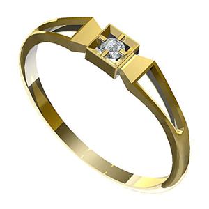 Zásnubní prsten s briliantem Leonka  006