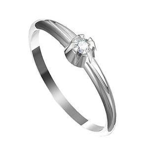 Zásnubní prsten s briliantem Leonka  010