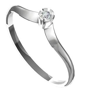 Zásnubní prsten s briliantem Leonka  014