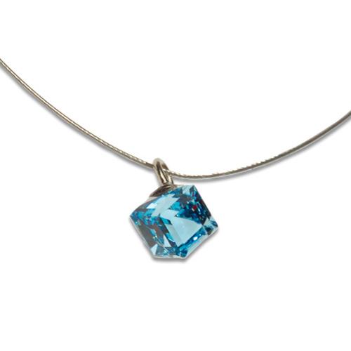 Přívěsek s krystalem Swarovski Poezia Blue