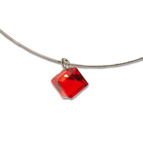 Přívěsek s krystalem Swarovski Poezia Red