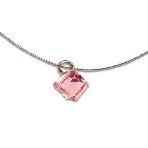 Přívěsek s krystalem Swarovski Poezia Pink