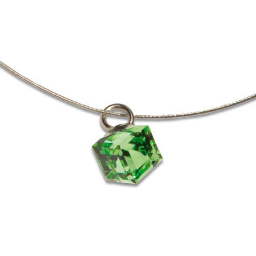 Přívěsek s krystalem Swarovski Poezia Green