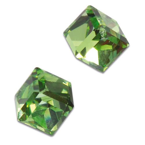 Náušnice s krystaly Swarovski Poezia Green