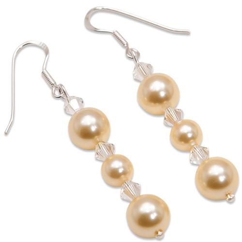 Náušnice s perlami Sunlit Pearl Light Gold II