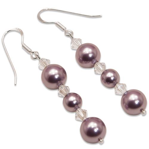 Náušnice s perlami Sunny Pearl Mauve II