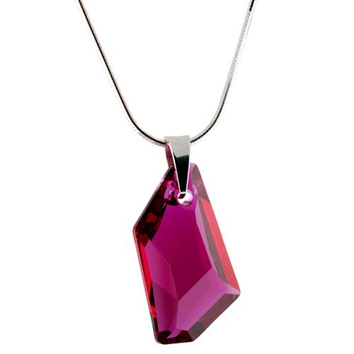 Stříbrný náhrdelník s krystaly Swarovski Art Ruby
