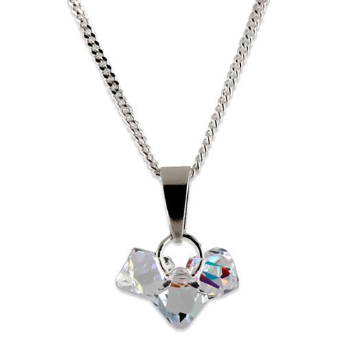 Stříbrný přívěsek s krystaly Swarovski Bicone Crystal