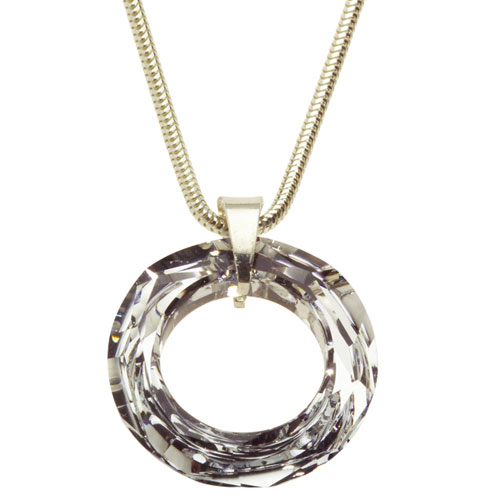 Stříbrný náhrdelník s krystalem Swarovski Ring Crystal