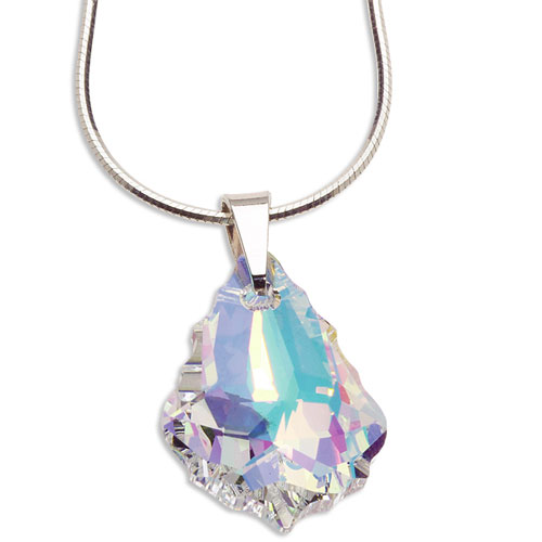 Stříbrný náhrdelník s krystalem Swarovski Baroque Crystal
